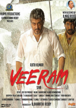 Veeram 2014 HDRip Hindi Dubbed 500MB Dual Audio 480p Watch Online Full Movie Download bolly4u