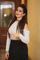 Manjusha in sleevelss crop top and black skirt at Darshakudu pre release ~  Exclusive Celebrities Galleries 101.JPG