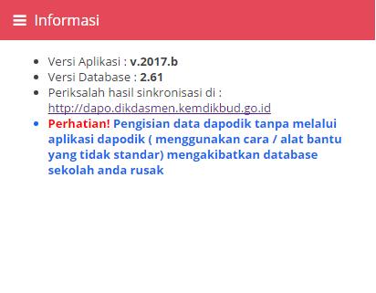 Aplikasi Dapodik Versi 2017b