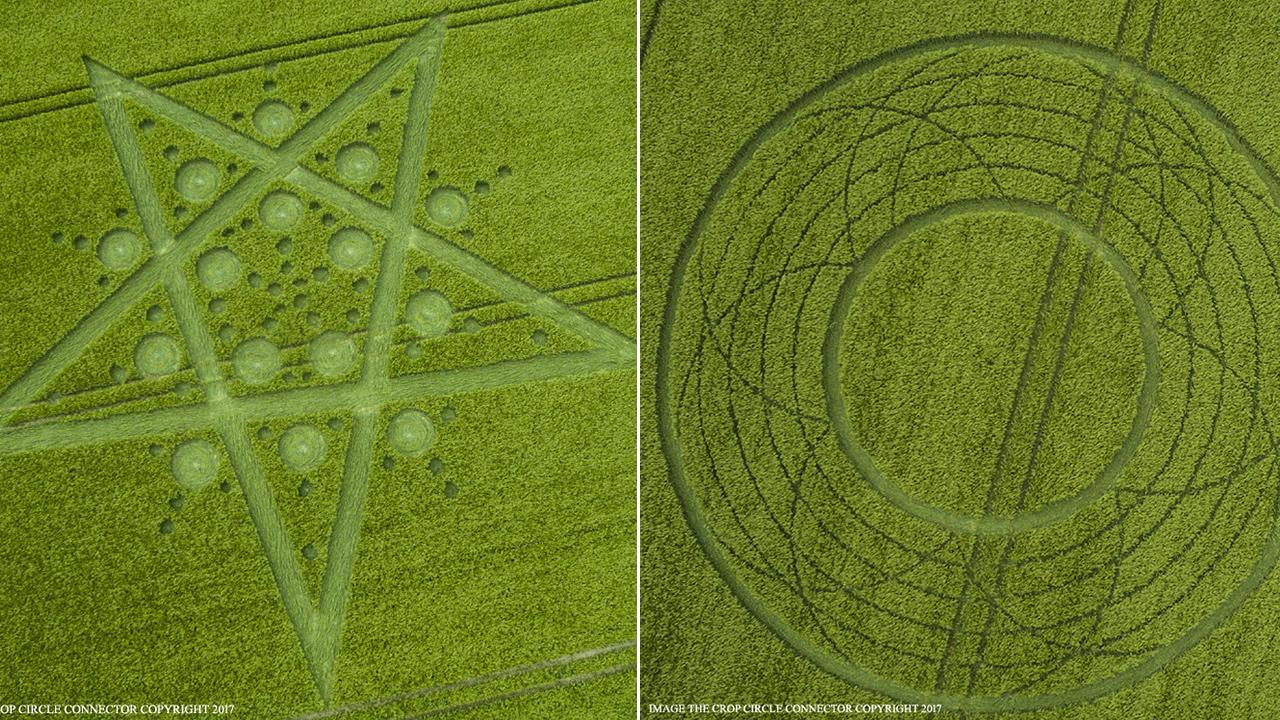 Aparecen dos misteriosos crop circles, a pocos metros, en Wiltshire (Reino Unido)