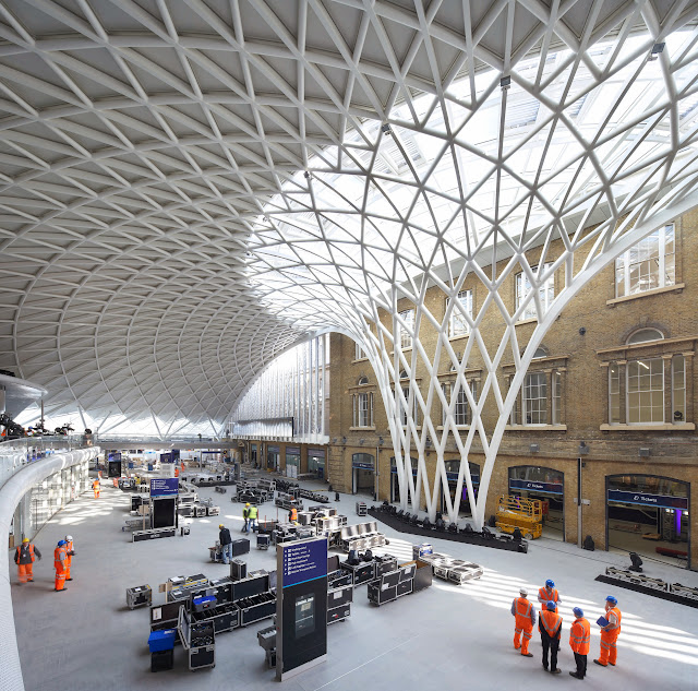Photo of new Kings Cross station architecture on lambethcyclists.org.uk