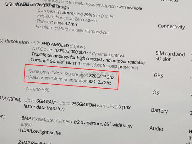 Spesifikasi lengkap ASUS zenfone 3 Deluxe, Snapdragon 821
