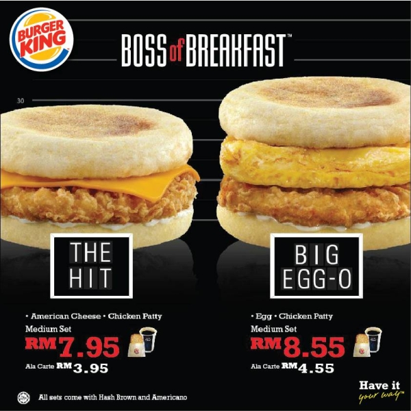 Around The World Burger King Malaysias New Breakfast Line Up Adopts A Gangland Flair