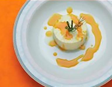 Timbal de queso con Mango