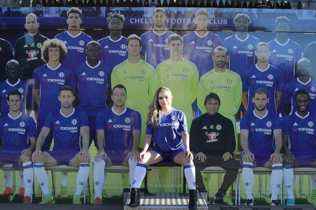 Foto Jessica Lopes Pendukung Seksi Club Chelsea