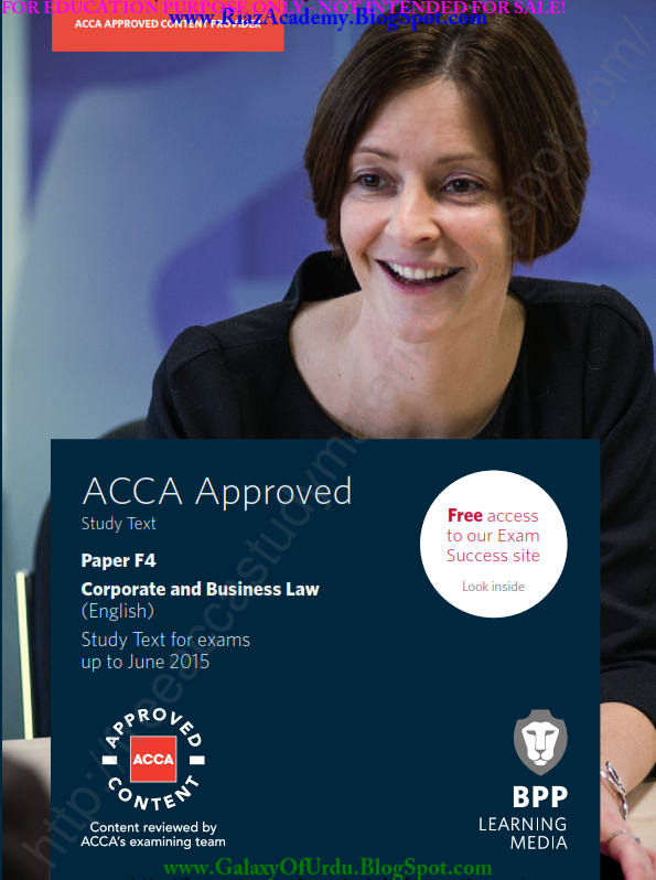 2015-ACCA-F4-CORPORATE AND BUSINESS LAW (ENG) -STUDY TEXT