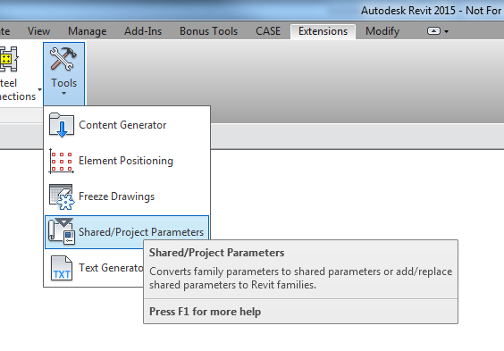 What Revit Wants: Adding Shared Parameters to Revit Families