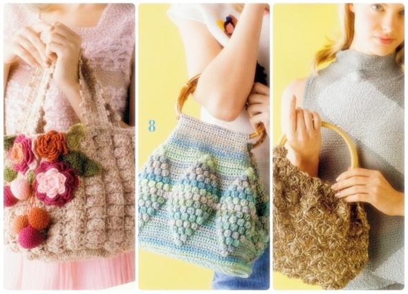 bolsos crochet mano, bolsos ganchillo mini, patrones crochet