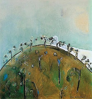 Upwey Landscape II - Fred Williams painting