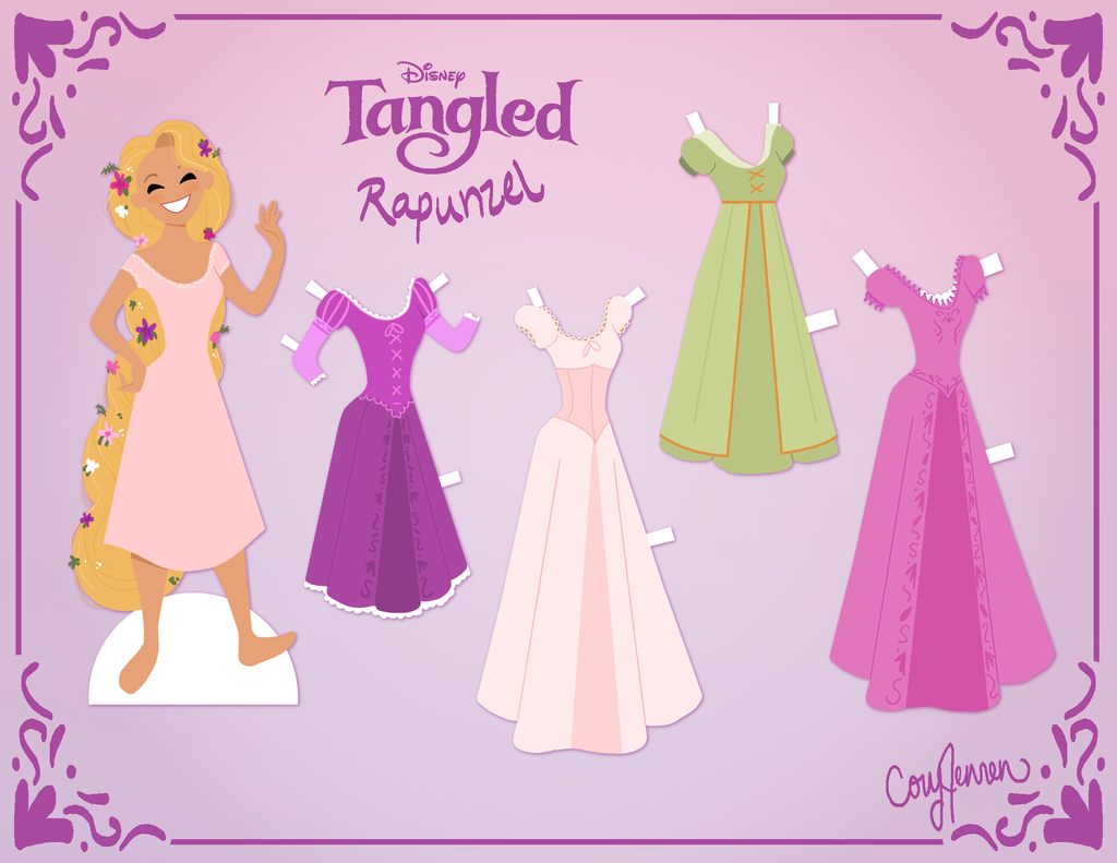 picture regarding Free Printable Paper Dolls identified as Tangled: Free of charge Printable Paper Dolls. - Oh My Fiesta! in just english