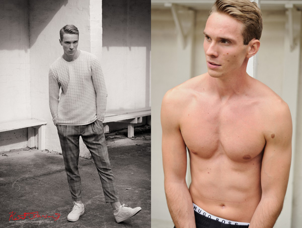 Menswear pictures on location for a male modelling portfolio - Photographed by Kent Johnson, Sydney, Australia.