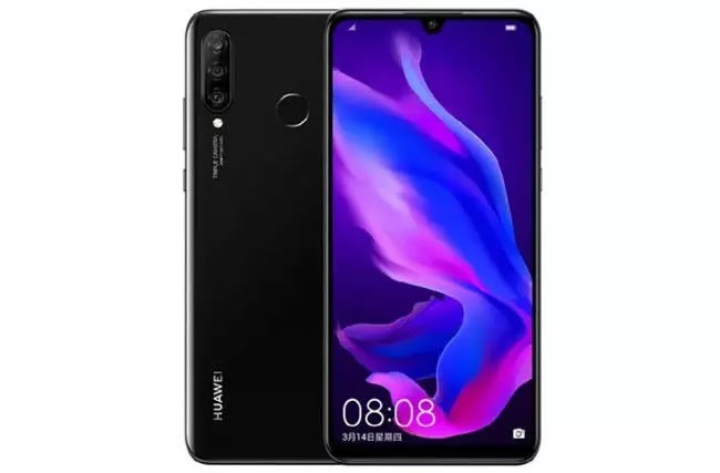 Huawei Nova 4e with triple rear cameras and Kirin Hindi
