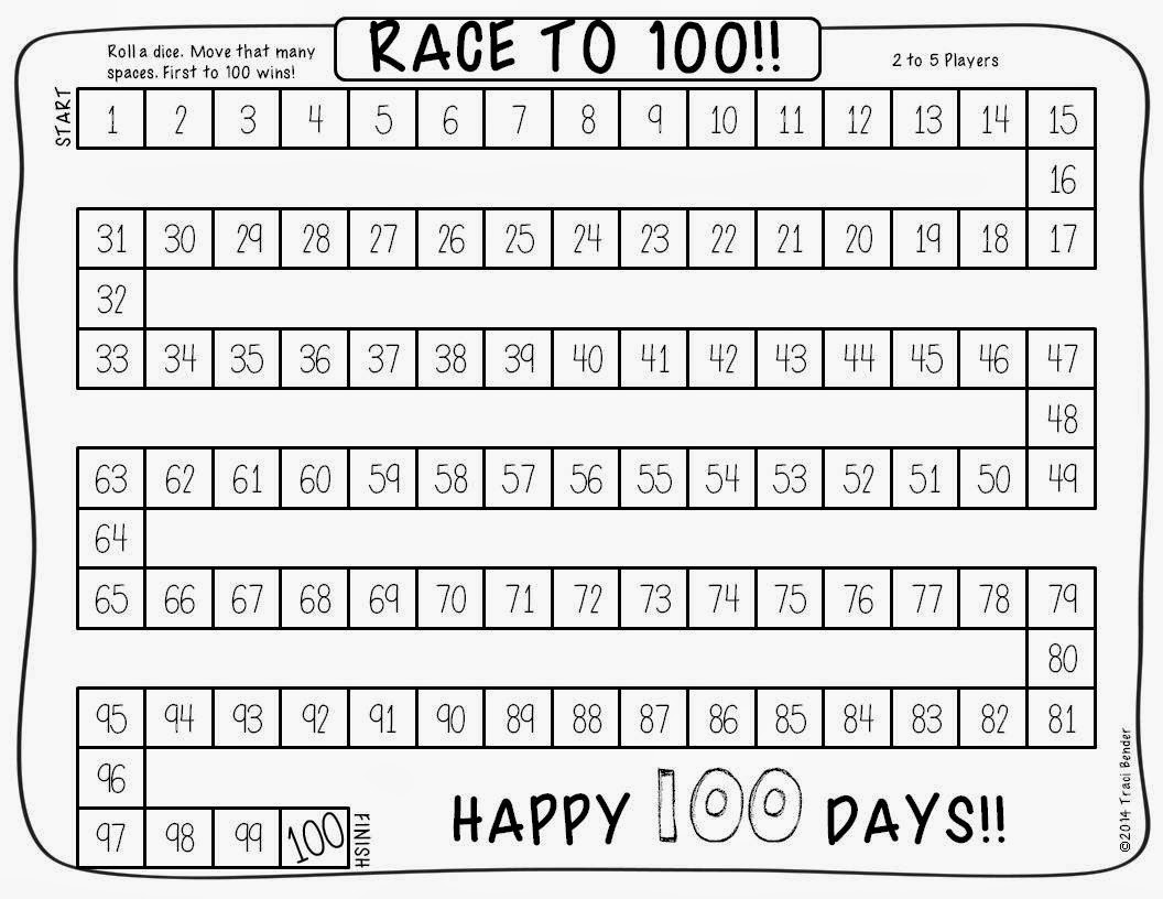 The Bender Bunch Race To 100 Freebie