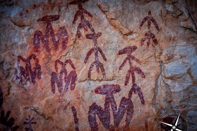 Pintura rupestres de Peña Escrita
