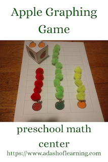 Apple Graphing Game: Preschool Math Center