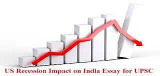 US Recession Impact on India Essay for UPSC