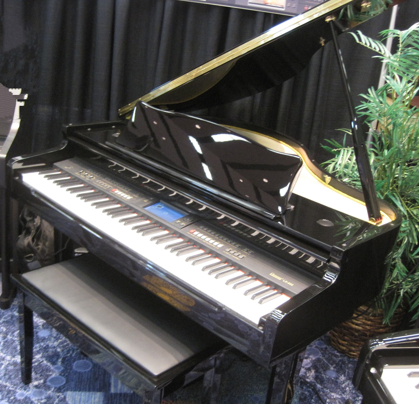 Az piano reviews review omega lx802 lx505 digital for Smallest baby grand piano dimensions