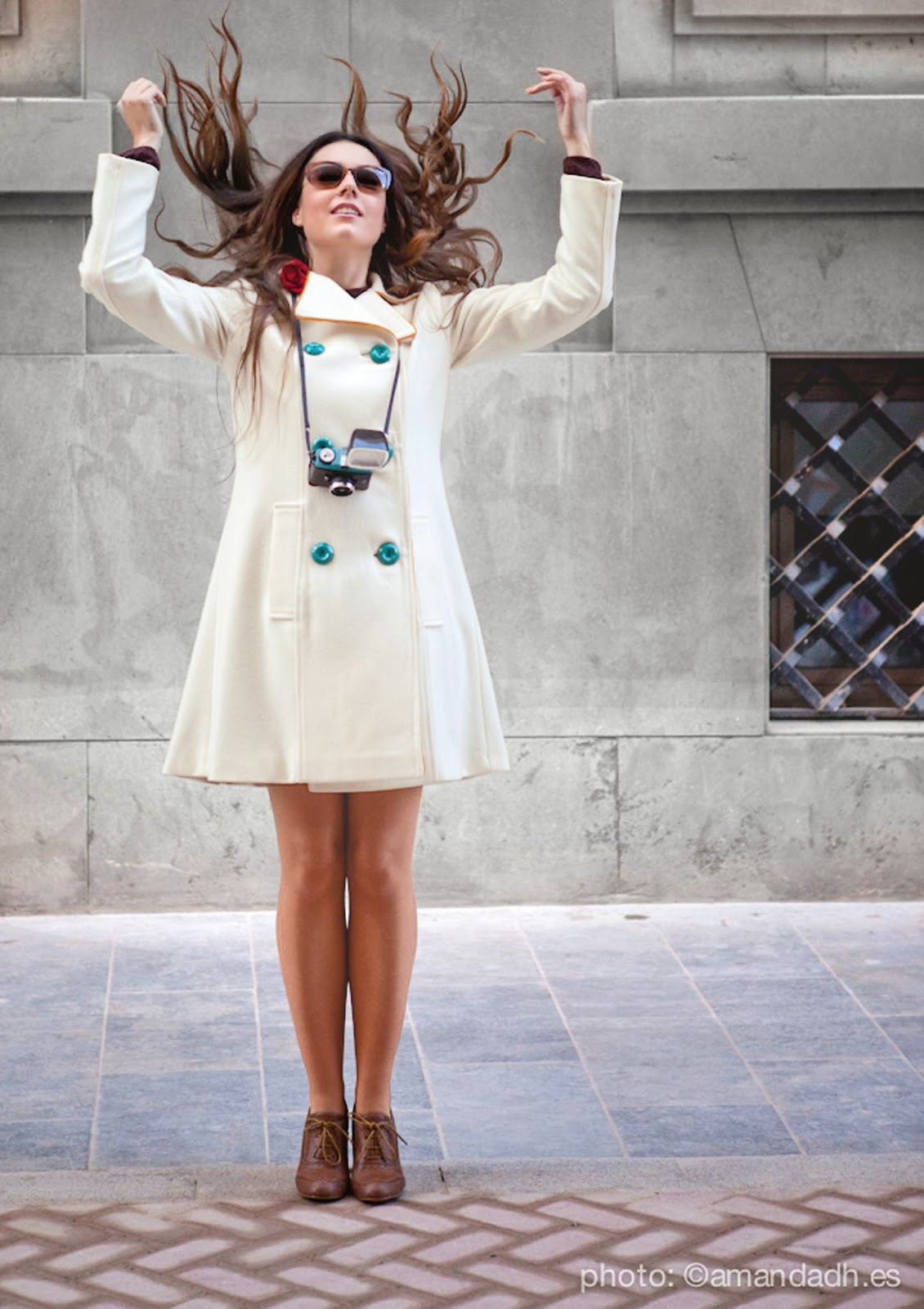 Woll coat with silk and cotton - Senorita Martita FALL-WINTER street style by Amanda Dreamhunter - timeless italian design