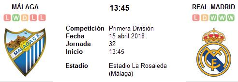 Málaga vs Real Madrid en VIVO