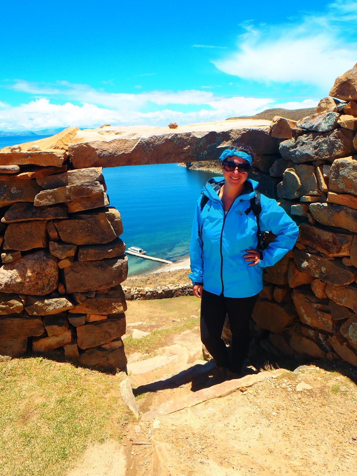 Girl hiking on Isla del Sol
