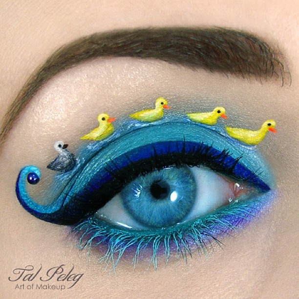 20-The-Ugly-Duckling-Tal-Peleg-Body-Painting-and-Eye-Make-Up-Art-www-designstack-co