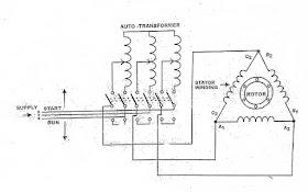 autotransformer starter working principle,wiring and control diagram Voltage Wiring Diagram