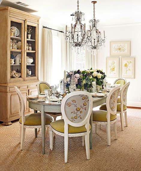 botanicals framed dining room two chandeliers china hutch