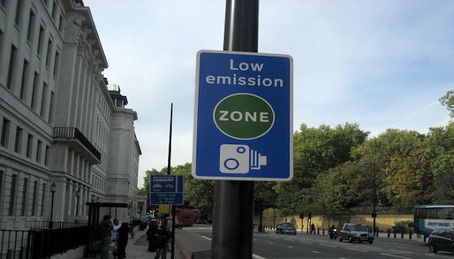 Zona de Bajas Emisiones en Inglaterra