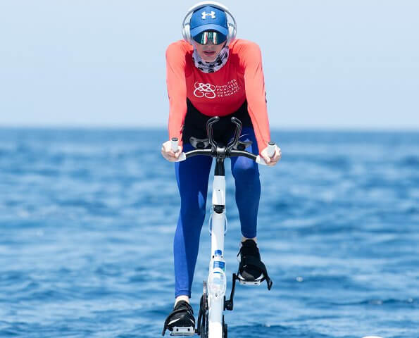 Princess Charlene of Monaco will take part in the race and started trainings to be ready for the race. Riviera Water Bike Challenge