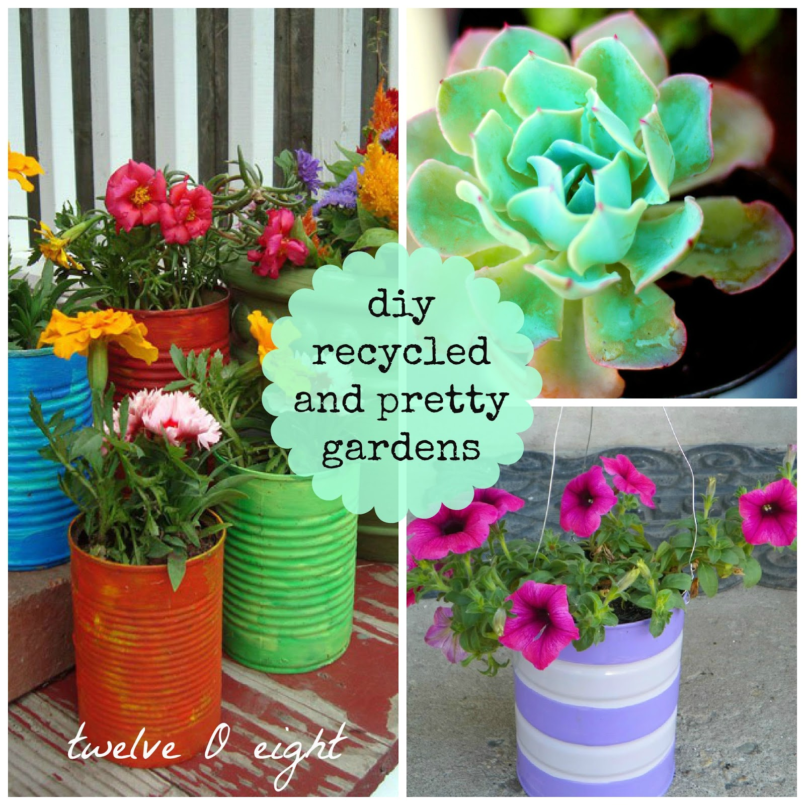 Diy Recycled Planters: DIY Recycled And Pretty Gardens