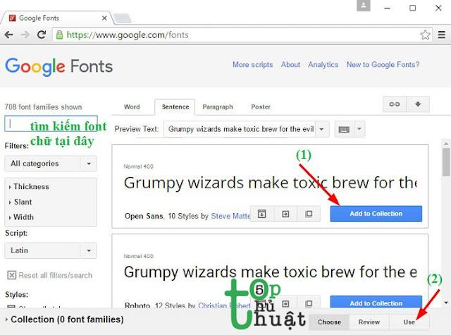 Tìm kiếm Fonts chữ
