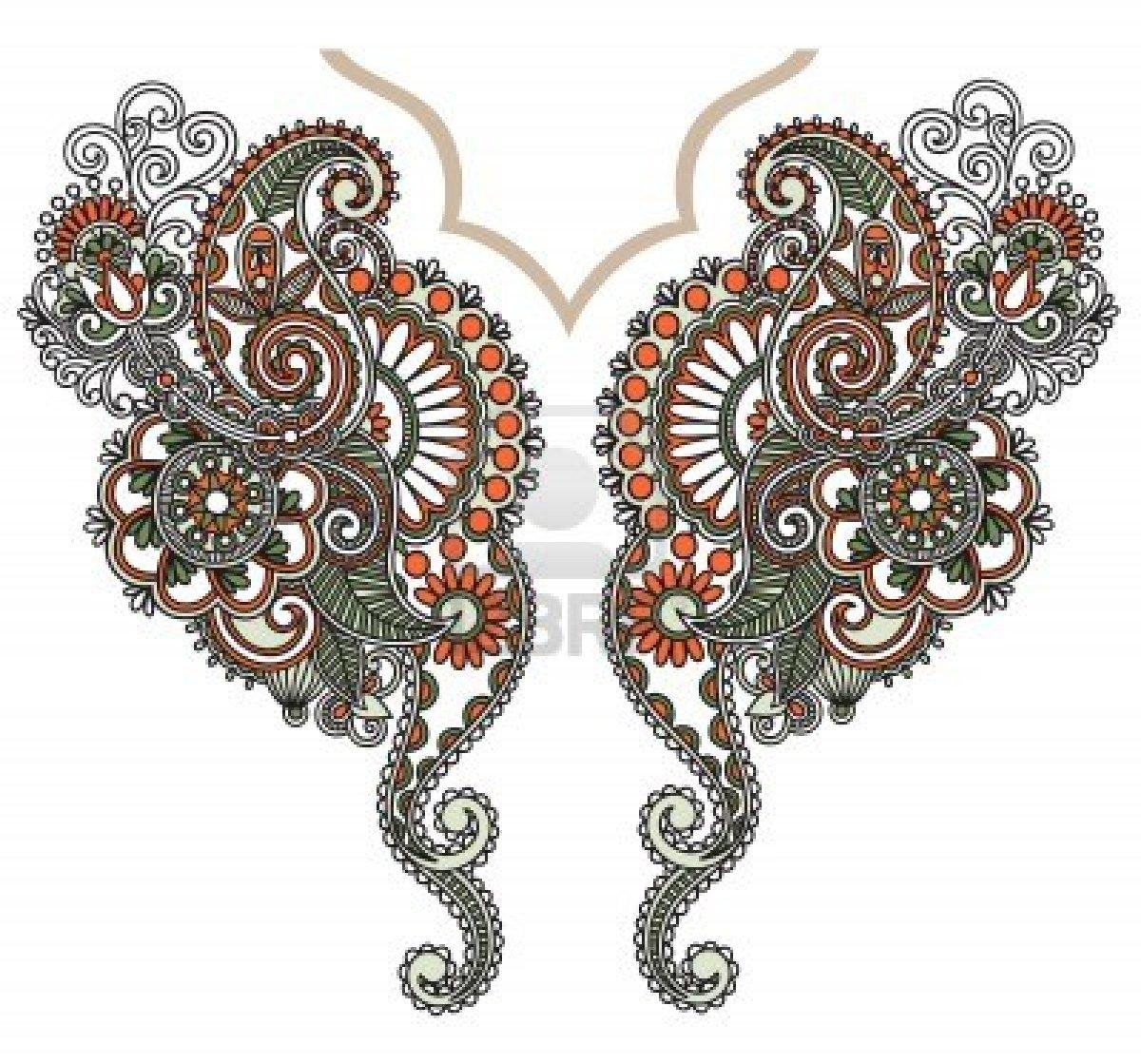 Embroidery designs neck patali kali