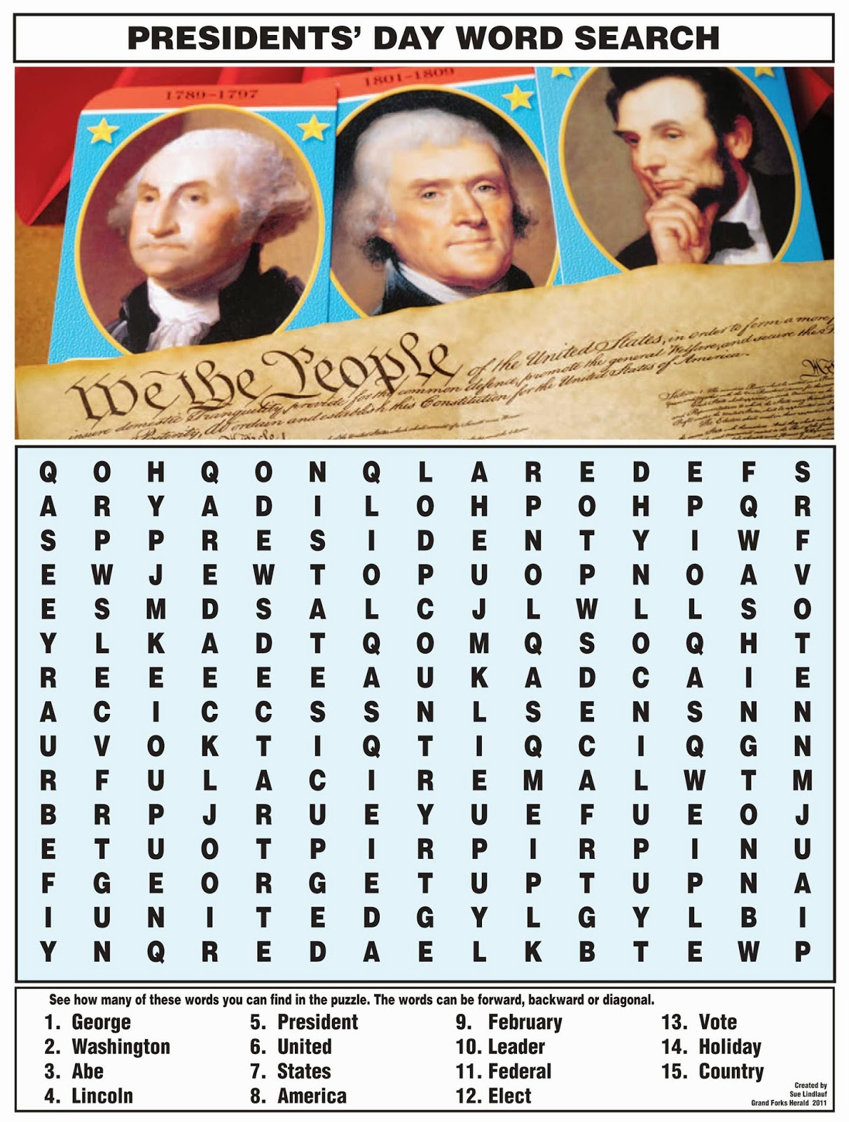 Top 7 President S Day Word Search Puzzles