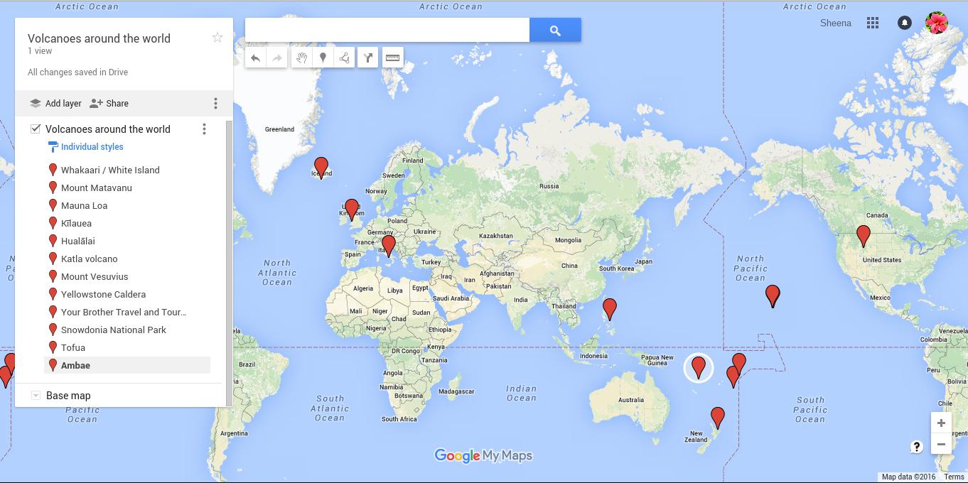 Sheena Pt England School Volcanoes Around The World