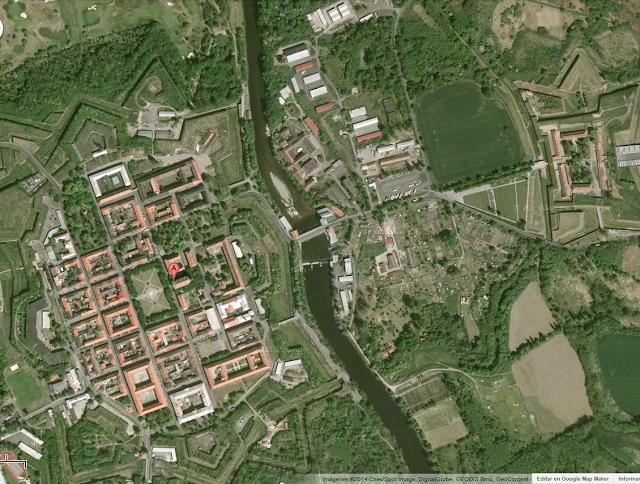 vista aérea del campo de terezín