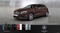 Mercedes A250 2017 màu Nâu Orient 990