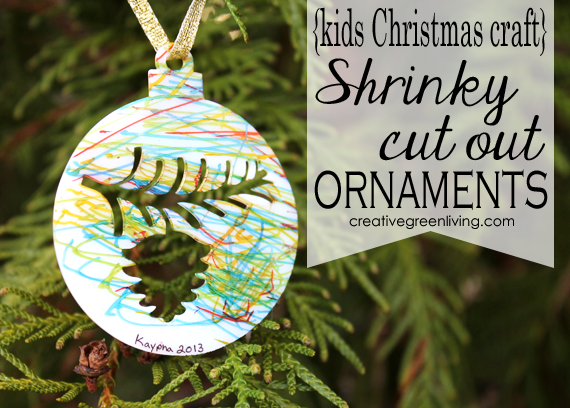 shrink paper christmas ornaments for kids