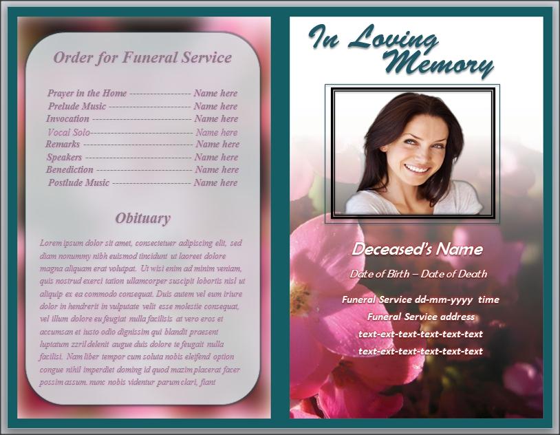 Cover Letter Templates » memorial program template design | Cover ...