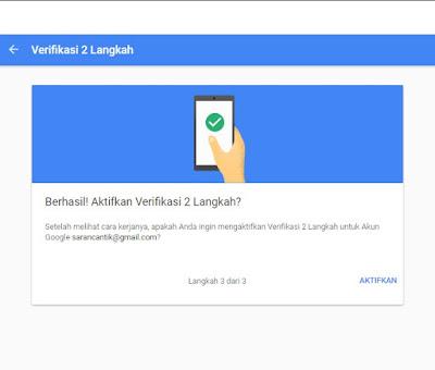 Cara Mengaktifkan Verifikasi 2 Langkah Akun Google Terbaru