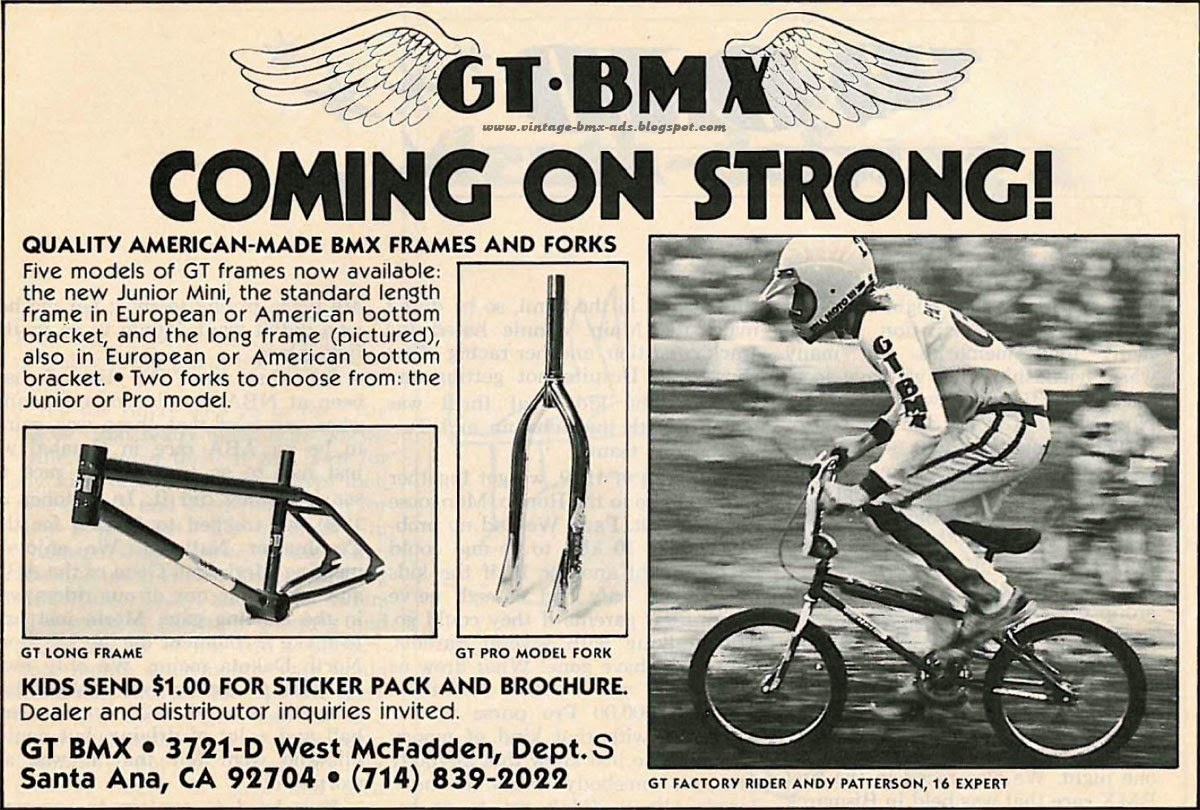 Gt bmx coming on strong