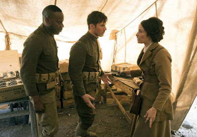 Timeless Season 2 Abigail Spencer, Malcolm Barrett and Matt Lenter Image 2