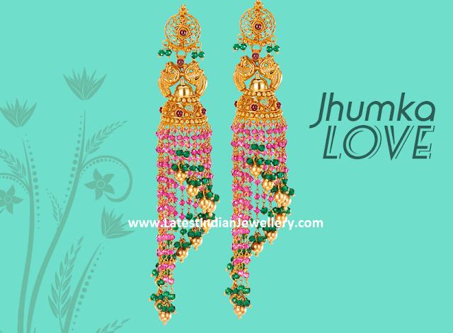 Chandelier Long Gold Jhumkas