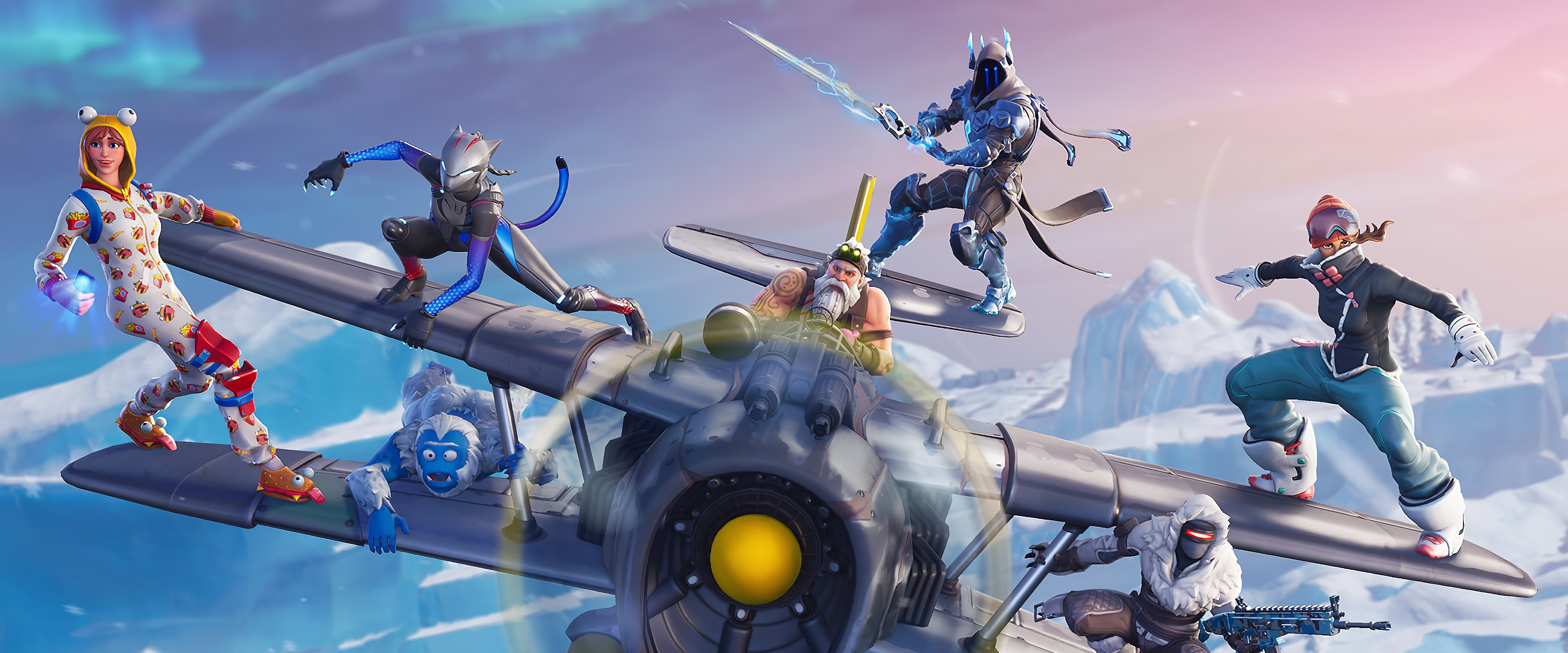 Download 1440x2560 Wallpaper All Characters Video Game Fortnite