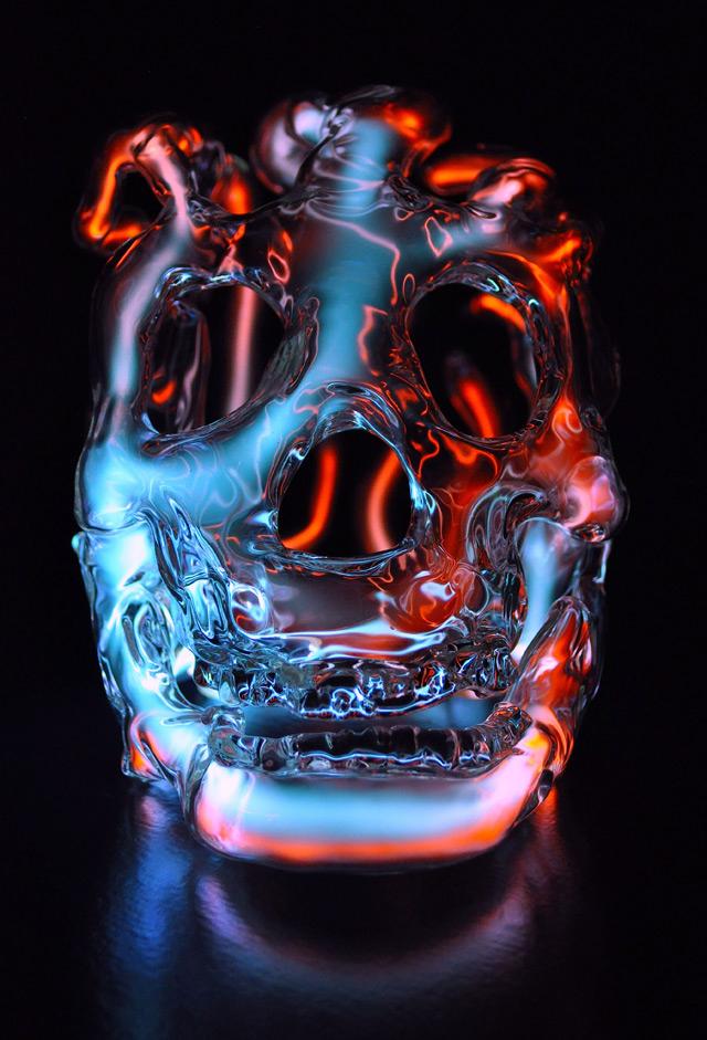 Cráneo de cristal.