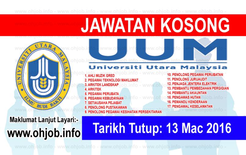 Jawatan Kerja Kosong Universiti Utara Malaysia (UUM) logo www.ohjob.info mac 2016