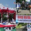 PETJAHH! Prabowo di Solo, Pendukung Datang Naik Kuda hingga Pasang Spanduk 'Solo Kota Prabowo'
