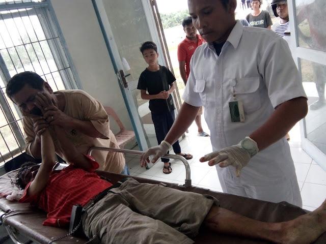 Jenazah Buntora Simamora korban yang tewas disenggol KA saat berada di Rumah Sakit.