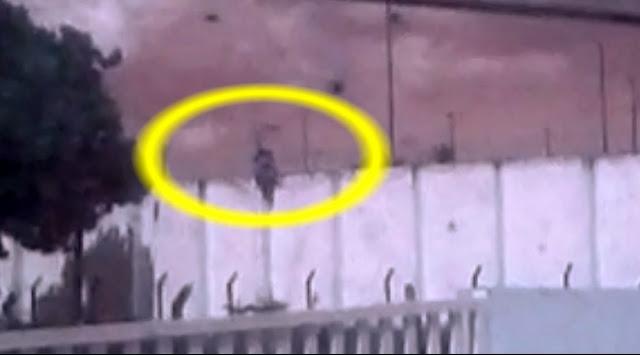 Populares filmam momento que detentos  fogem do presidio em Nossa Senhora da Glória