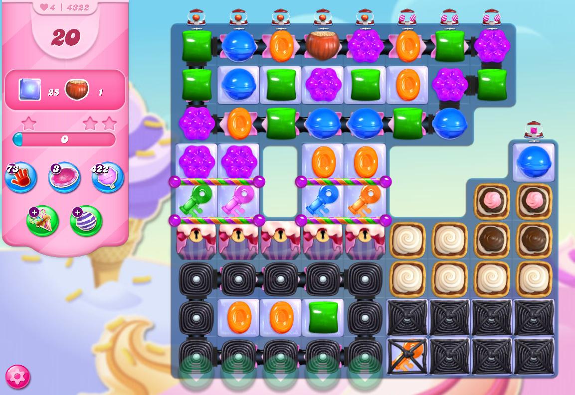 Candy Crush Saga level 4322