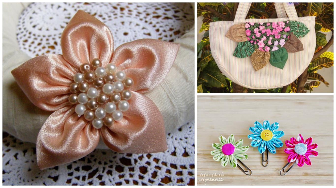 Haz hermosas flores de list n con retazos de tela lodijoella for Manualidades con tela paso a paso